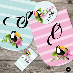 Kit Imprimible Tucan Toucan Tucanes Toucans Aves Birds Candy Bar TuKit - TuKit