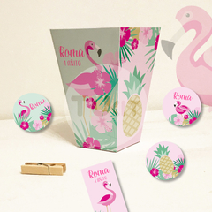 Kit Imprimible Flamencos Candy Bar TuKit - comprar online