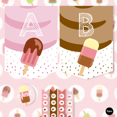 Imagen de Kit imprimible helados candy bar tukit