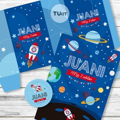Kit Imprimible Espacio Planetas Cohetes Candy Bar TuKit - TuKit