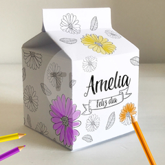 Milk box milkbox imprimible flores para colorear tukit