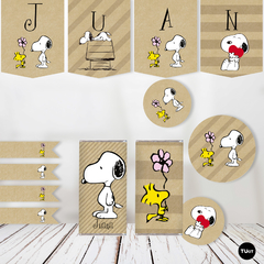 Kit Imprimible Deco Snoopy Kraft TuKit en internet