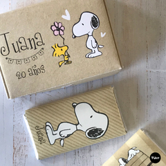 Imagen de Kit Imprimible Deco Snoopy Kraft TuKit