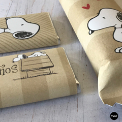 Kit Imprimible Deco Snoopy Kraft TuKit - tienda online