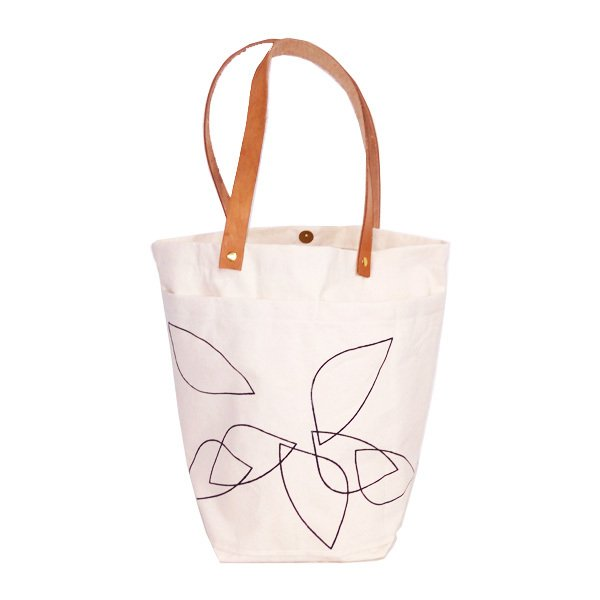 Market Bag Natural Estampa Negra - comprar online