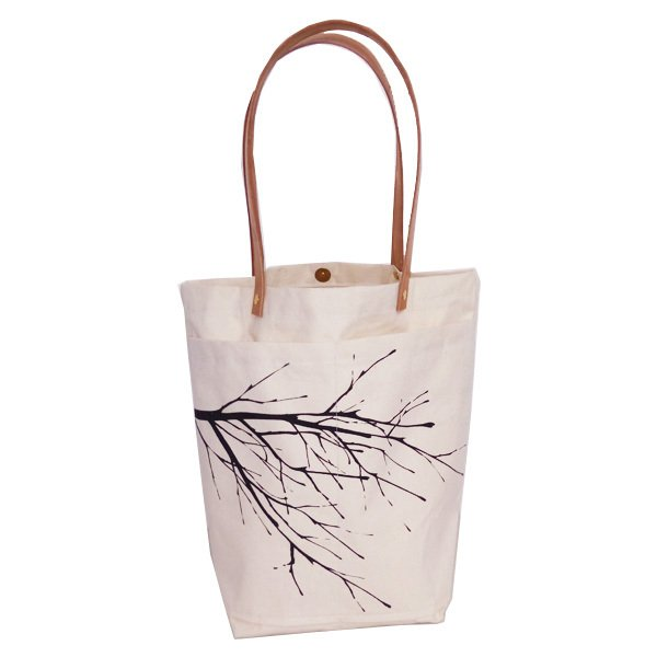 Market Bag Natural Estampa Negra - OOST