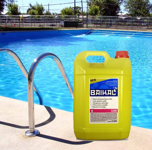 Cloro l quido x 10 lt comprar en baikal qu mica for Cloro liquido per piscine