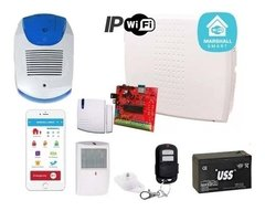 Alarma Casa Inalambrica Wifi Marshall Domiciliaria + Cable