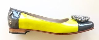 Ballerinas Maia Yellow & Grey