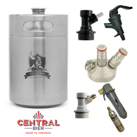 Kit Mini Keg Crovan 5Lts - Completo!