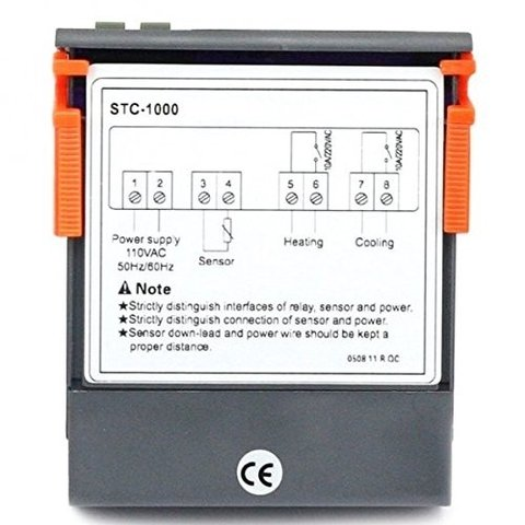 Termostato Digital STC-1000 Doble relay Frio/Calor en internet