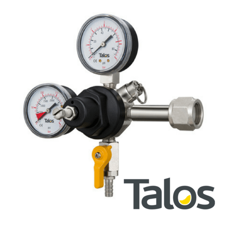 Regulador CO2 marca TALOS, rosca W21.8 (2 relojes)