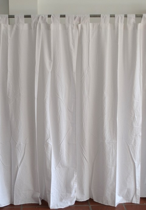 Cortina intermedia larga 1,50 x 2,10 m blanco