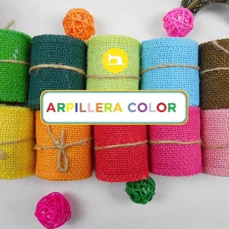 Tela Arpillera Color