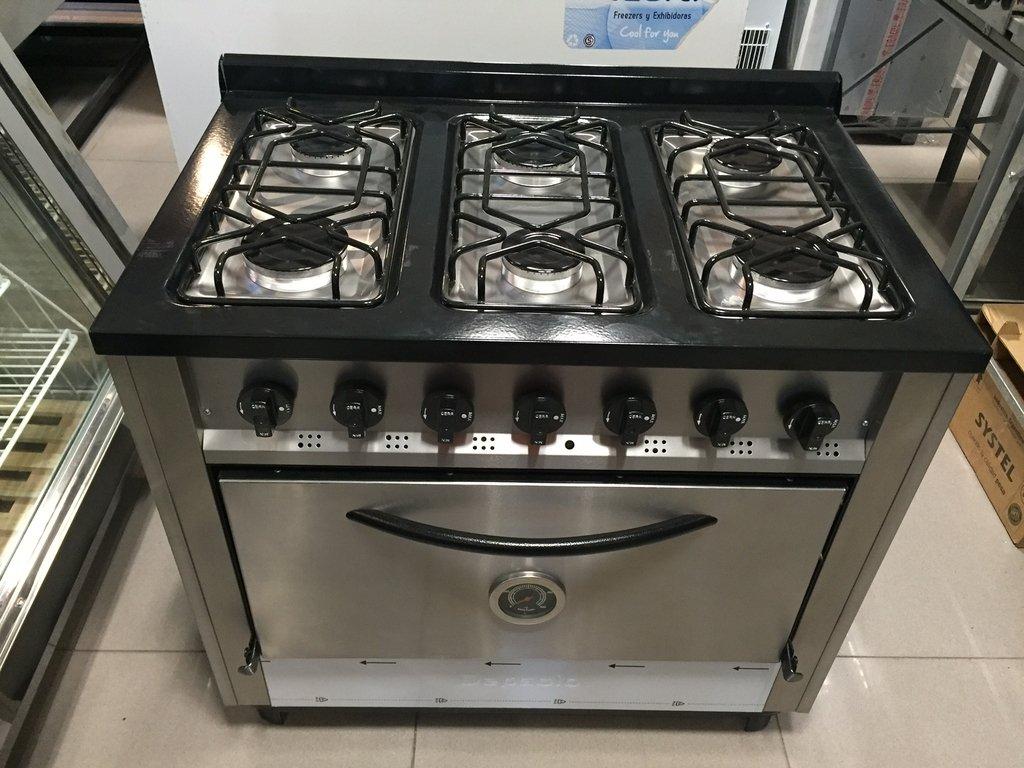 Cocina 6 hornallas superoferta lvequipamiento for Stores para cocinas