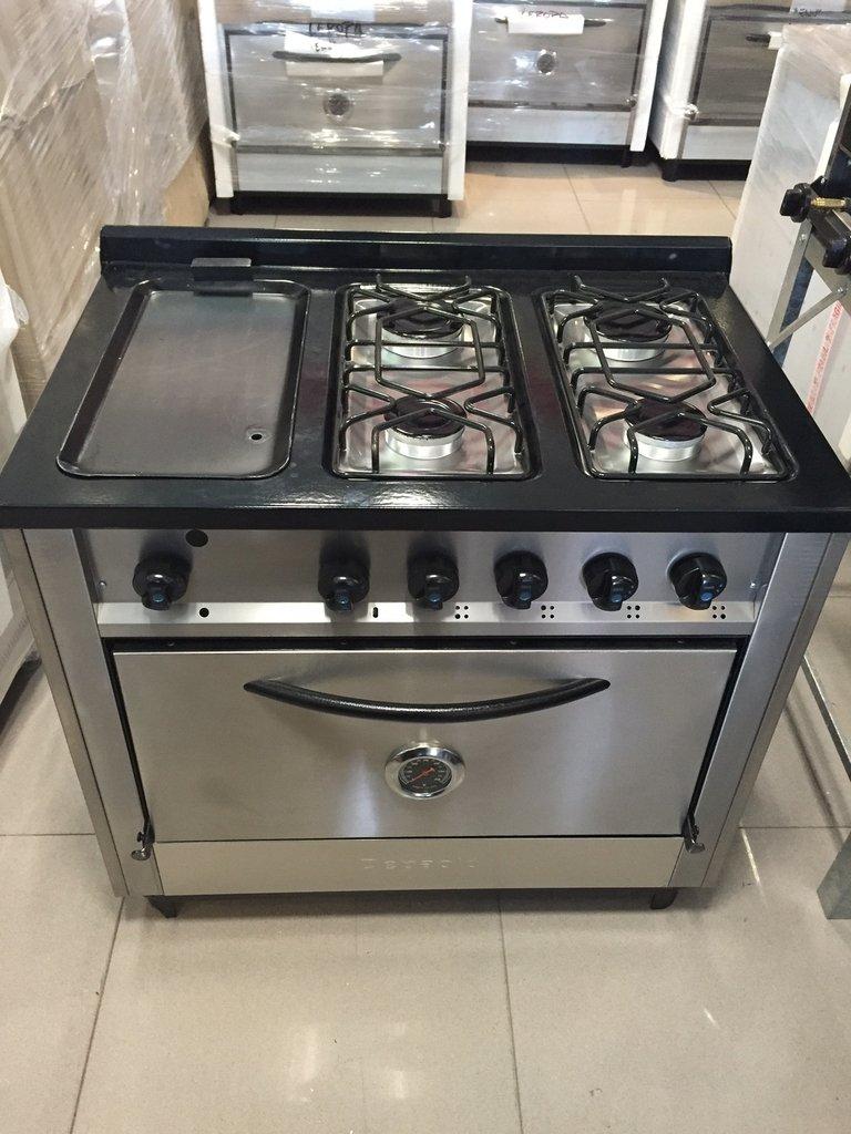 Cocina 4 hornallas y plancha acero inox superoferta - Plancha de cocina para empotrar ...