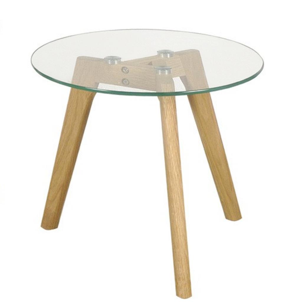 Mesa madera y vidrio mesa de vidrio mm incoloro con patas - Mesa centro madera y cristal ...