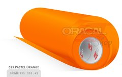 ORACAL 638 Wall Art  Pastel Orange 035