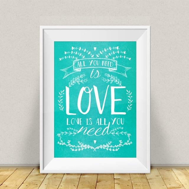 LAMINA LOVE IS ALL YOU NEED - comprar online