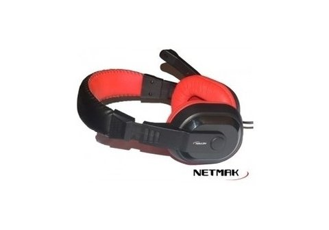 Auricular Netmak NM Shadow Gamer Con Micrófono 40mm en internet