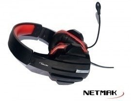Auricular Netmak Gamer Medusa Warrior Con Micrófono 40mm en internet