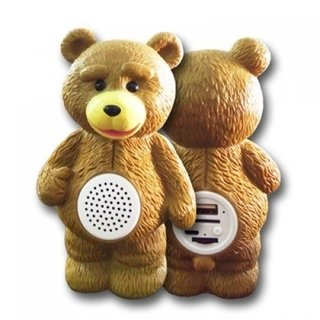 Parlante Bluetooth Oso Ted Inalambrico Micro SD USB Radio FM