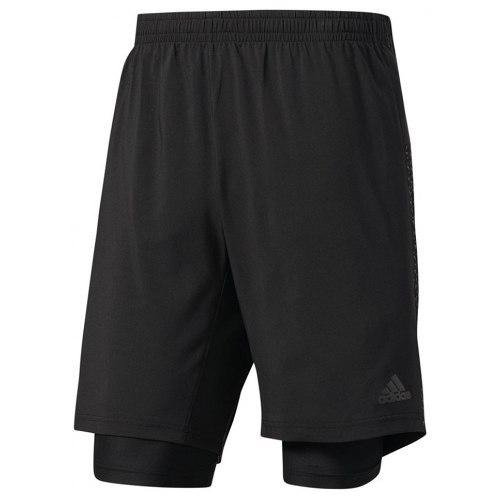 Short adidas Dual 2 En 1 Con Calza Running De Hombre