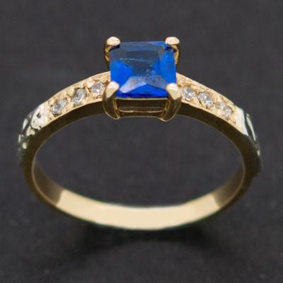 ... anel de formatura feminino em ouro 18k com pedra azul safira azul água  marinha para o ... 83fc1ad3d9