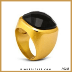 Anel Pedra Natural Ouro 18K Cod.AG215
