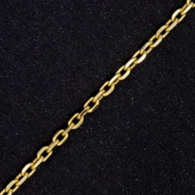 2aa2dee0758 Corrente Masculina Malha Cartier Cadeado 18g 60cm em Ouro 18K Cod ...