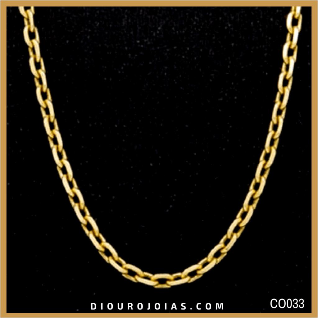 48fc2abb59e Corrente de Ouro Cartier Cadeado Masculina Cod.CO033 — Diouro Joias