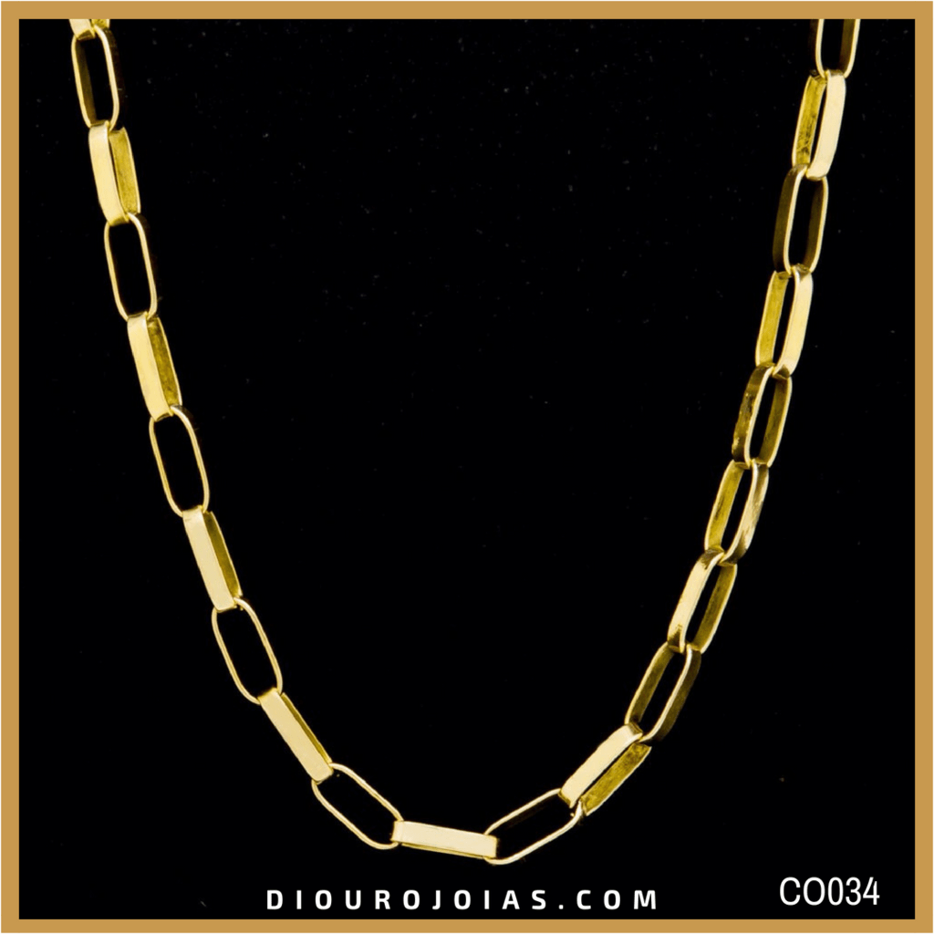 937c846d22d Corrente de Ouro 18K Cartier Alongada Cod.CO034 — Diouro Joias
