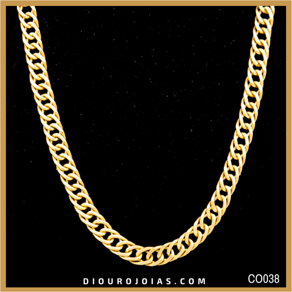 8ae02c04b862b Corrente de Ouro Grumet Elo Duplo Cod.CO038 — Diouro Joias