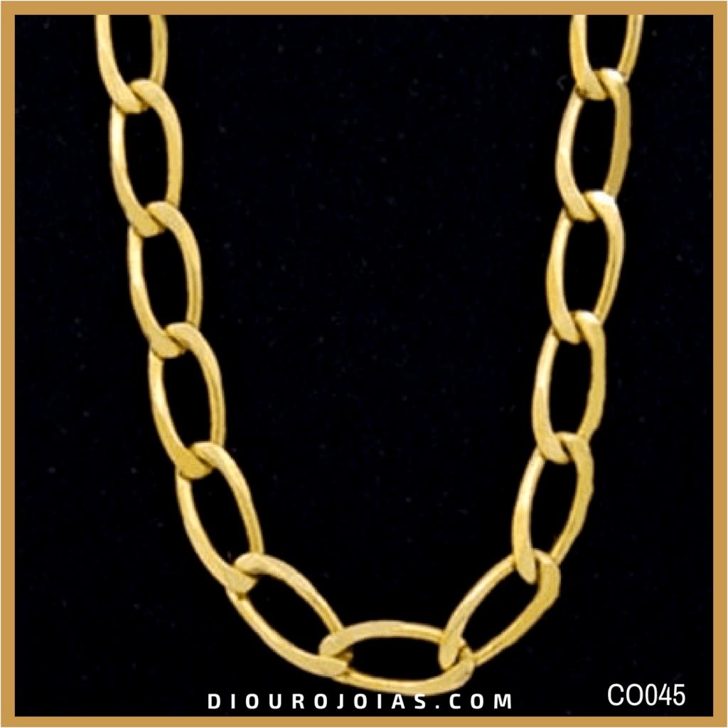 d80bc70d274b3 Corrente de Ouro 18K Grumet Alongada 18g 60cm Cod.CO045 — Diouro Joias