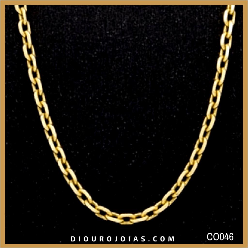 04a7f026bdf ... Masculina Malha Cartier Cadeado 18g 60cm em Ouro 18K Cod.CO046. Oferta.  corrente de ouro amarelo