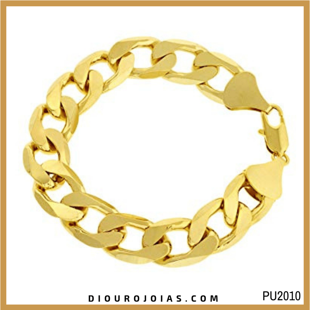 8d9cb3c429548 Pulseira Masculina de Ouro 18k 750 Grumet Cod.PU2010 — Diouro Joias