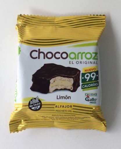 Chocoarroz sabor limon -22gr- Gallo