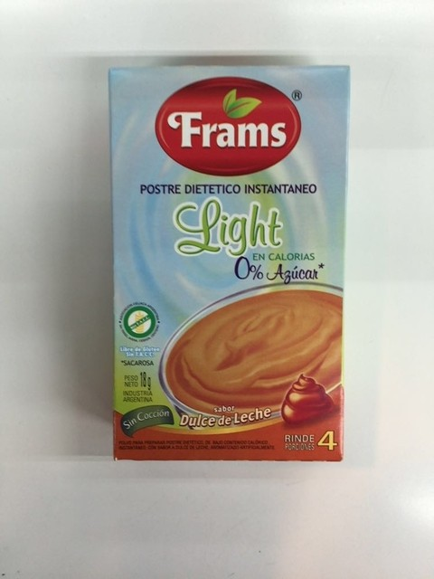 Postre light sabor dulce de leche - Frams