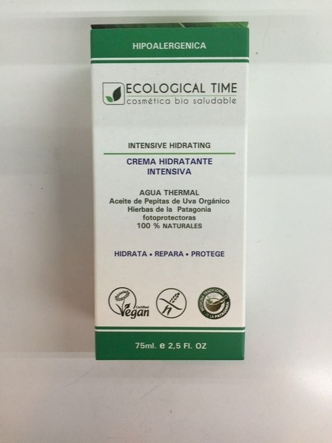 Crema hidratante intensiva - Ecological Time