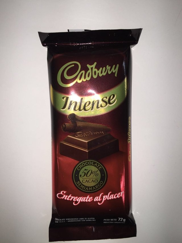 CHOCOLATE INTENSE -72gr- CADBURY
