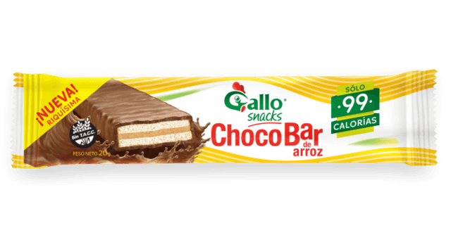 Choco bar de Arroz (Negro) -20gr- Gallo