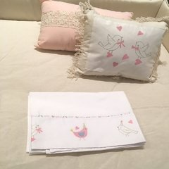 Kit cuna Little Birds Rosa