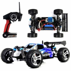 Automodelo Off Road WLtoys Vortex Buggy Racing A959-B 1/18 RTR 4WD 2.4GHz Max 50km/h-Azul - Duosat Brasil®