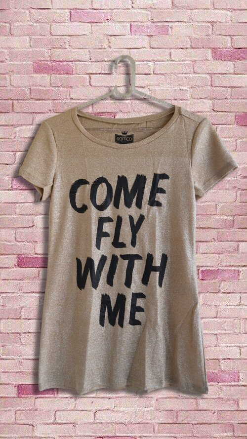 T-Shirt Lurex Come Fly With Me