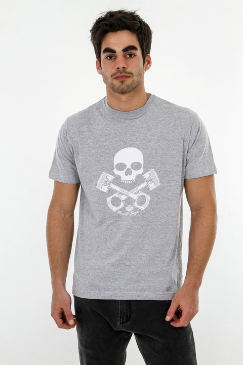 T-Shirt Pistons and Skull - Regular Fit - comprar online