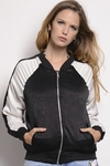 Bomber Seda Combinada Estampa Blow With You - tienda online
