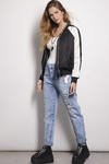 Bomber Seda Combinada Estampa Blow With You - SinEtiquetas.com