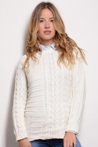 Sweater Tejido Largo Ochitos
