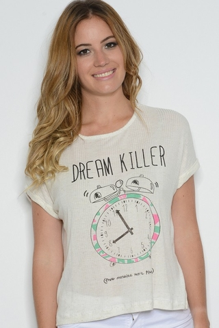 Remera Morley Viscosa Dream Killer Blanco - SinEtiquetas.com
