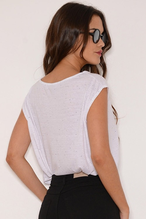 Musculosa Jersey Estampa Monday Should Be Blanco - comprar online